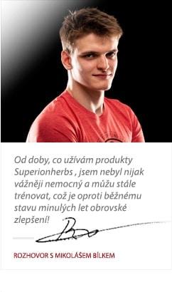 Mikoláš Bílek o produktoch Superionherbs