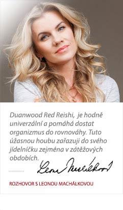 Leona Machálková o Duanwood Red Reishi od Superionherbs