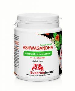 Doplnok stravy Ashwagandha Whitania Somnifera Extrakt od Superionherbs