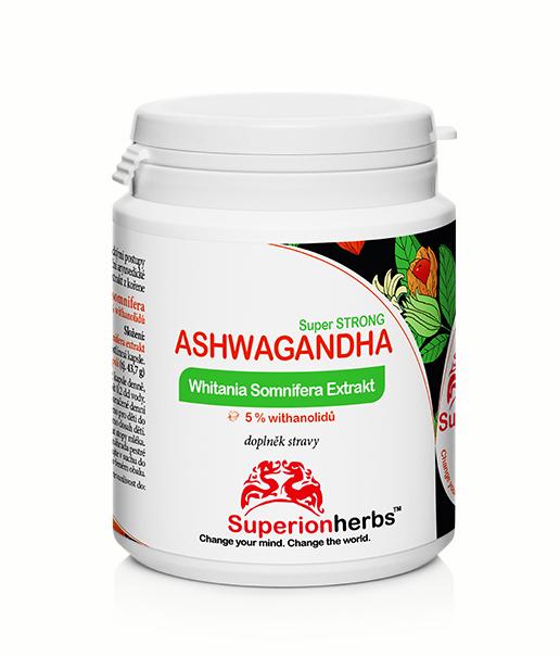 Ashwagandha Whitania Somnifera Extrakt 5% withanolidov, doplnok stravy od Superionherbs