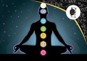Čakry u meditujúceho človeka