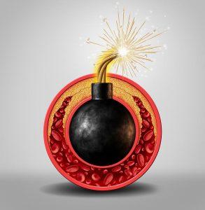 Horiace bomba obalená podkožným tukom