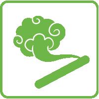 Ikona pestovanie na drevených kmeňoch