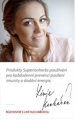 Livie Kuchařová o produktoch Superionherbs